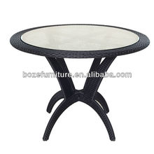 KD structure outdoor rattan tabl BZ-TR007/flat dining table