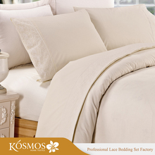 KOSMOS Bedding Polycotton Embroidery Lace Designs Bed Sheet Hand Work