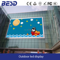 P10 video wall advertising led display screen, HD building wall mounted led sign display screen