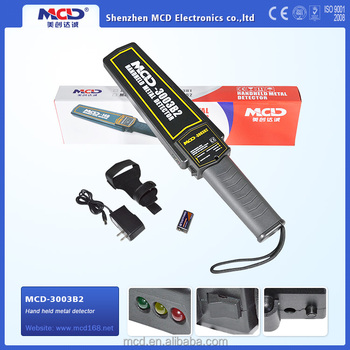 Portable High Quality Hand Held Metal Detector With CE Approved, Widely Used in Airports and Railway Station