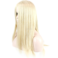 Beautiful Silky Straight Texture Blonde Long European Hair Jewish Wig