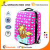 2016 China hot new design kids Cute ABS trolley school bags