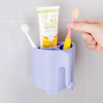 2017 New Arrival Bathroom Sets, Cute Animal Design Wall Mounted Kids Toothbrush Holder