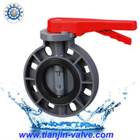 Manufacturer supply xe pvc butterfly pipe valve of lever type
