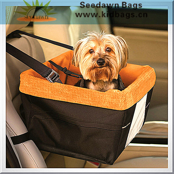 Car Seat Hook Hanging Nest Style Pet Puppy Carrier with Wick Cotton Velvet Lining Prevent Scratching Mat