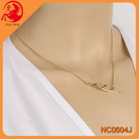 Popular Fashion Gold Jewellery,Branch Charm Necklace,Alibaba China