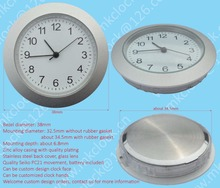 38mm matte silver plating zinc alloy metal bezel clock insert clock fit up clock, Seiko PC21 movement quartz watch insert