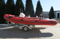Red inflatable rib boat RIB-580 luxury sailing yacht rigid tender with CE for sale!!!