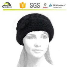 Hand Knit Fashion Girls Fancy Winter Hats And Cap