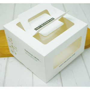 Hot sale high quality wholesale fancy cupcake box and packaging cheap boxes cardboard cake