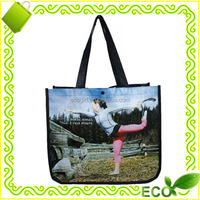 wholesale advertisement promotional gift cheap price recycled reusable bopp lamination non-woven pp shopping bag