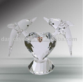 Great clear glass fish figurines of valentine gift for lover