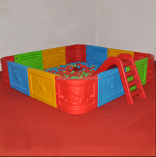 kindergarten soft play playground toys kids ball pool with plastic slide