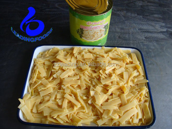 CANNED BAMBOO SHOOT SLICES IN WATER PRESERVATION CAN FOOD