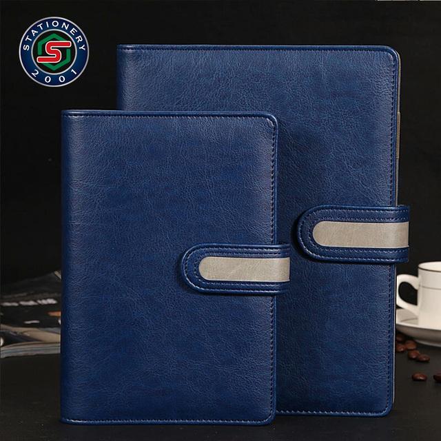 custom leather bound books handmade diary office notebooks factory