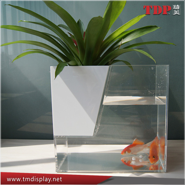 Manufacturer Custom Acrylic Fish Tank Aquariums, Acrylic Flower Vases, Desktop Acrylic Fish Aquariums