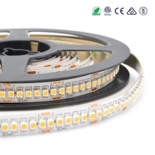 Low luminous decay 240 leds/m warm white flexible 24v led strip smd 3528