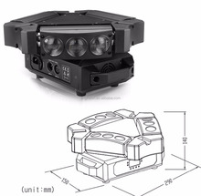 dj 9*10W led quad 4 in 1 rgbw triangle spider light for concert bar light
