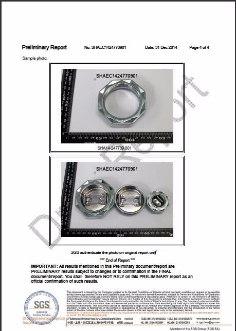 Stainless steel lever lock ring