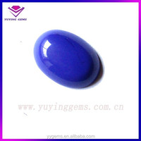 Cabochon ceylon sapphire blue glass gems stone for wholesale