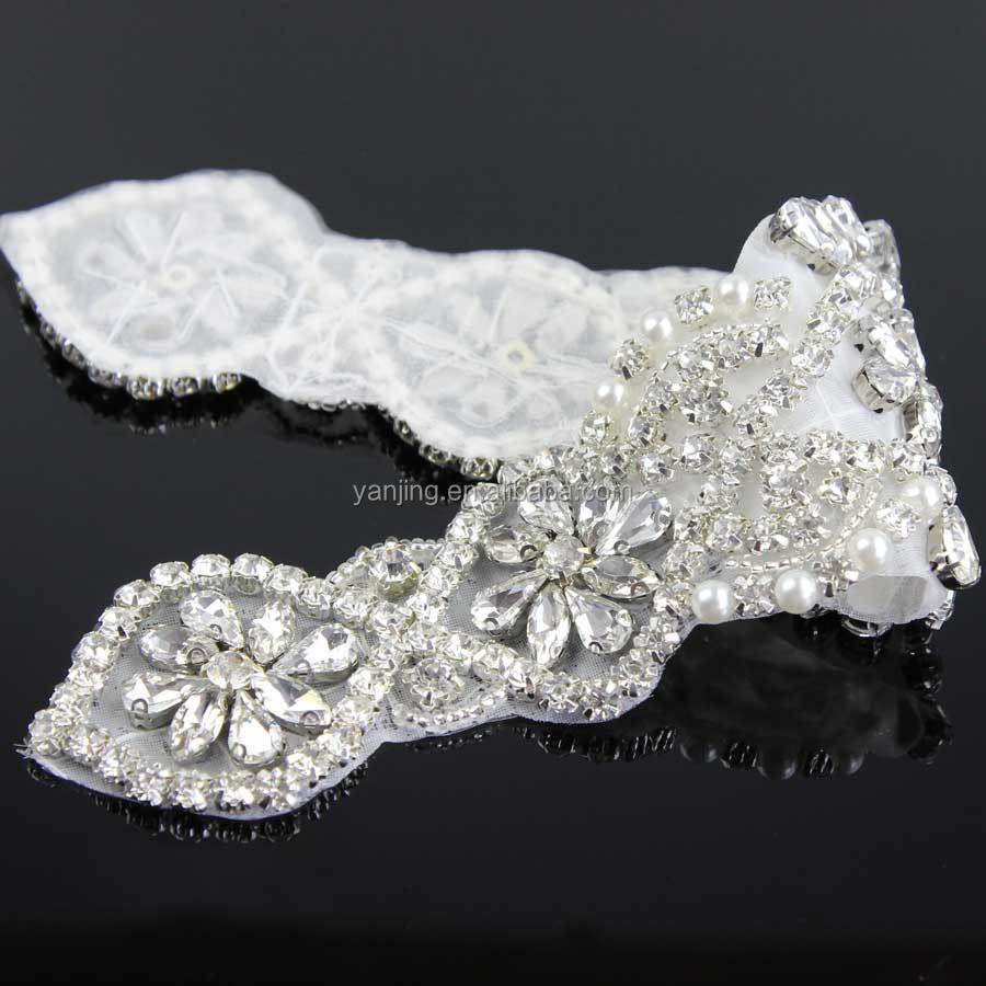 New Clear Wedding Sashes Rhinestone Applique For Bridal Sash Handmade Charming