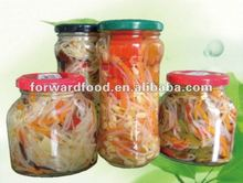 canned Chinese vegetable in jars