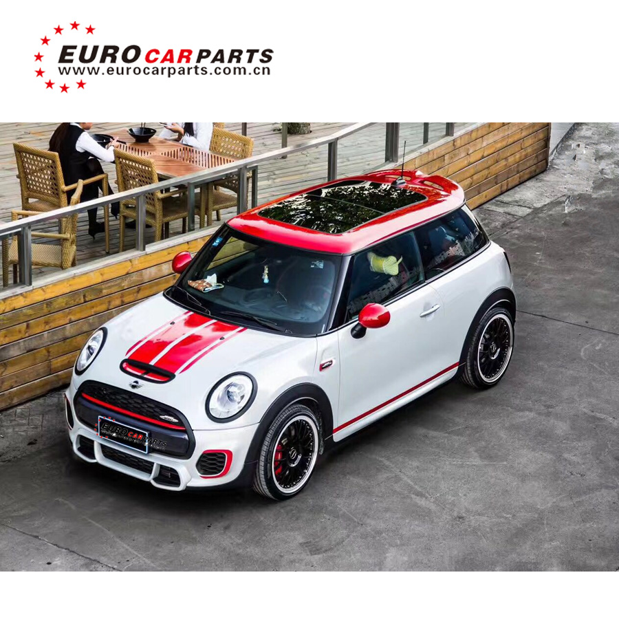 HOT SALE PP body kit fit for MINI COOPER R56 TO R56 S JCW style 2012 front bumper rear bumper trunk spoiler side skirt