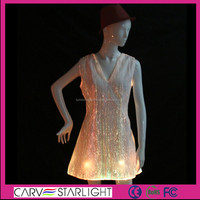 Glowing led fiber optical fabric formal designer dresses shops online