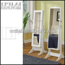2013 hot selling Jewelry Cabinet Floor Standing With Large Mirror