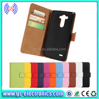 2014 New Arrival 100% Perfect Fit Genuine Leather Wallet Case for LG G3