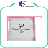 Wholesale new custom clear plastic travel cosmetic toiletry bags