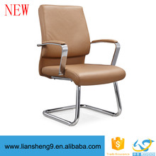 multi-functional office chair swivel black yellow leather chair writing meeting room chair