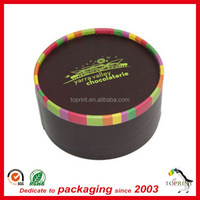 food grade round macarons packaging box cookies tube core paper tube with plastic tray