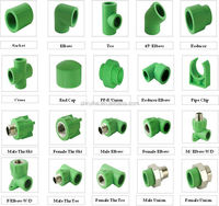 Plastic PPR Pipe Fitting For Water Supply System, german standard ppr pipe fittings