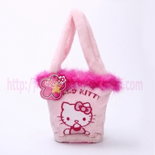 lace and faux fur handbag kids accessories bag