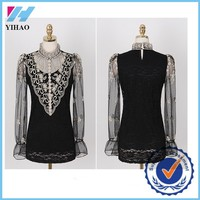 lace woman wear neck designs for ladies suit yihao frock slim blouse