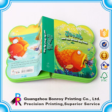 Full Color Custom Fabric 3D Childrens Sticker Book Printing