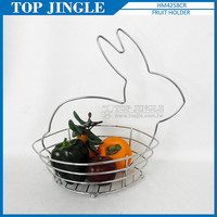 Rabbit shape metal wire basket for fruit