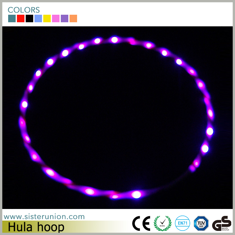 Wholesale New Colorful available led hula hoop
