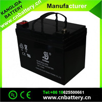 Kanglida 12volt battery 12v33ah sealed type lead acid battery for street Sweeper