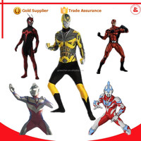 sexy plus size latex zentai full body suits ultraman costume transformers costume for adult