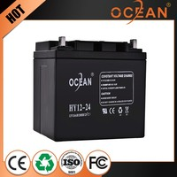 Good selling durable professional design 12V 24ah ups battery price