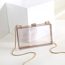 Wholesale Trendy women clear acrylic evening clutch bag