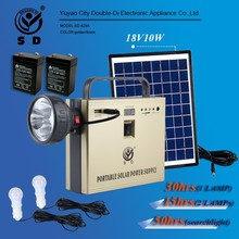 SD-828A 10w 20w 30w Small mini rechargeable led home lighting solar power system solar energy system off grid solar power