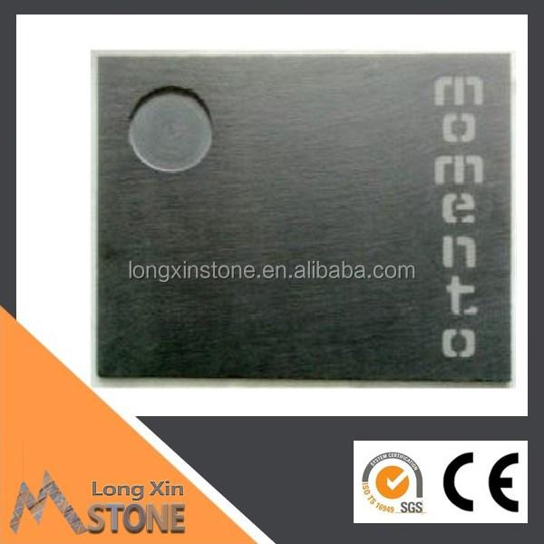 schwarzem schiefer serviertablett 40x30 sandgestrahlt mit logo Herstellung Hersteller, Lieferanten, Exporteure, Großhändler