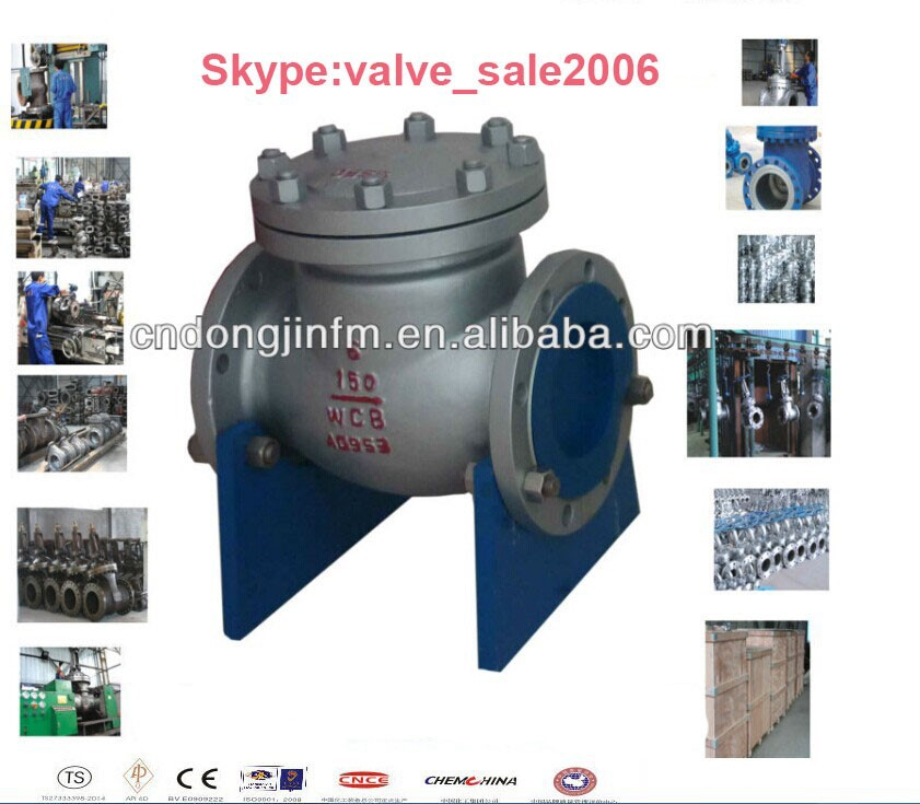 2014 Alibaba aliexpress China API(602 600 6D 6A) cast steel flanged swing check valve, check valve