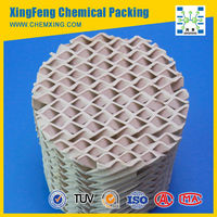 Ceramic Structured Tower Packing 250X 350X 400X 450X 550X 700X