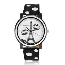 Eiffel Tower watch,Discount Vogue China supplier PU Leather Bracelet Watch