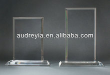 blank k9 crystal glass award plaque wholesale