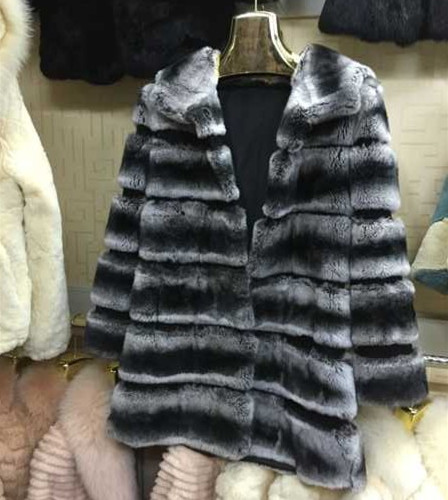 2015 hot selling real rex rabbit fur coat for women winter